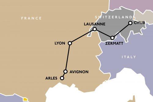 Rhone-map